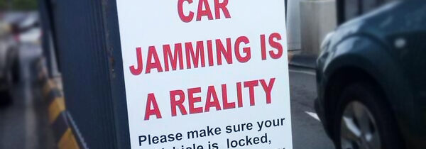 Car remote jamming insurance warning