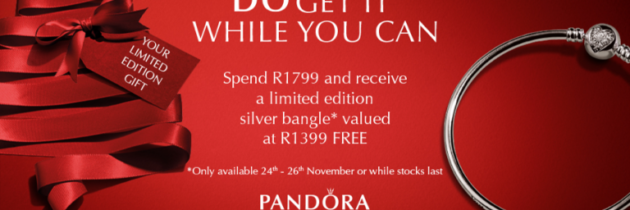 Free Pandora limited-edition silver bangle for Black Friday 2017